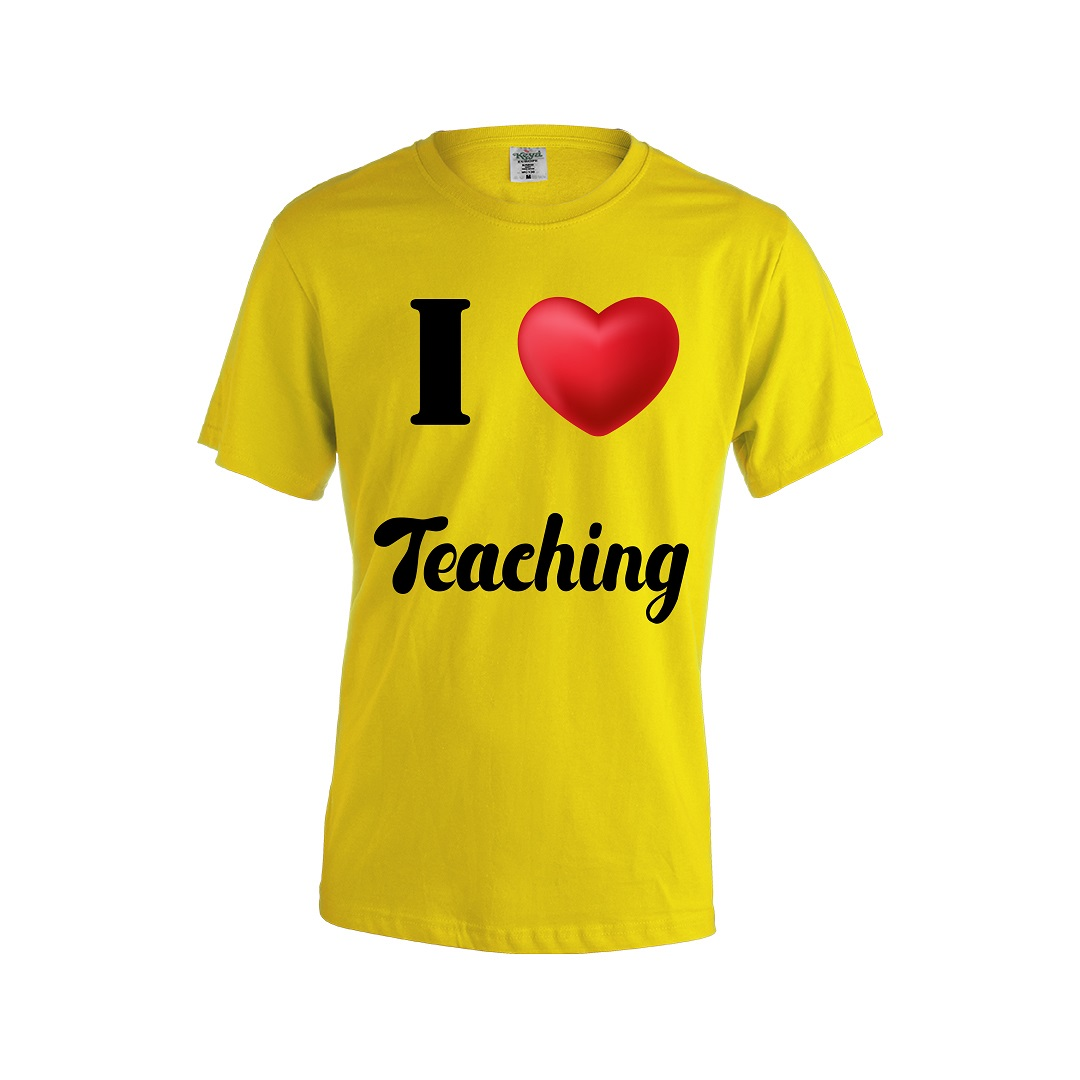 Camiseta hombre I love Teaching