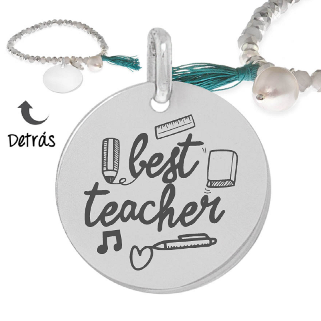 Pulsera plata little passion Best Teacher