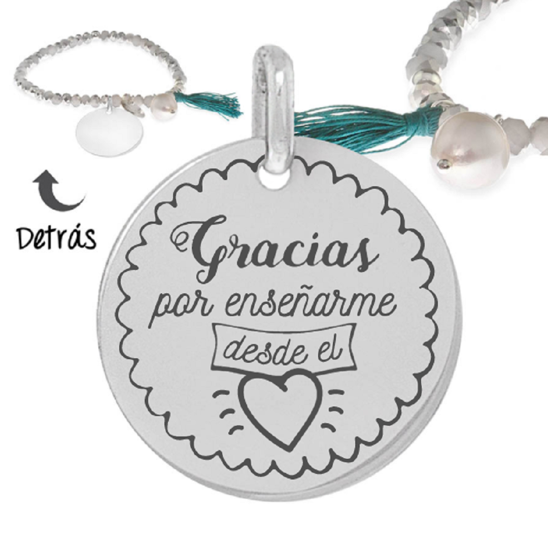 Pulsera plata little passion gracias profe